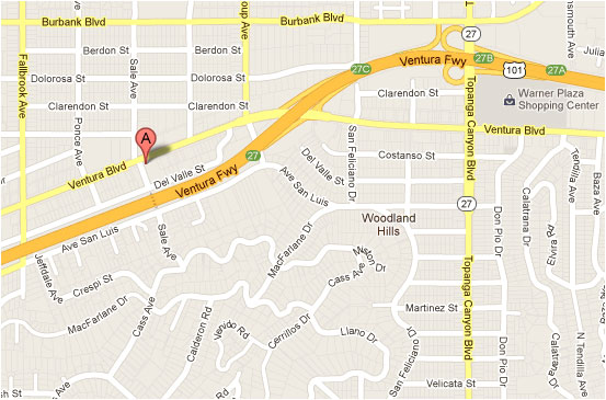 Map and Location of Elite Massage Academy in Woodland Hills